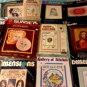 Vintage counted  cross stitch YOU CHOOSE ONE
